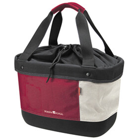 KlickFix Shopper Alingo Bike Bag, red/creme